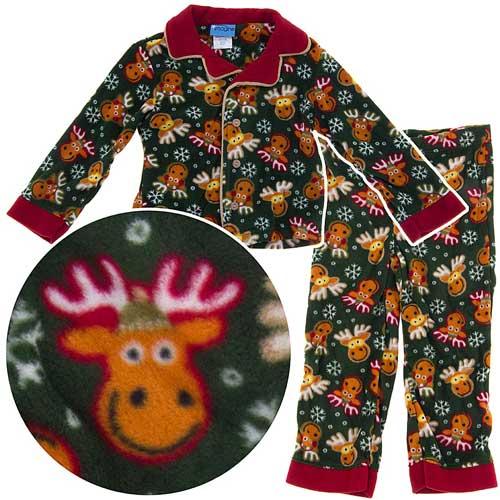 Toddler Boys' Fleece Footed Pajamas